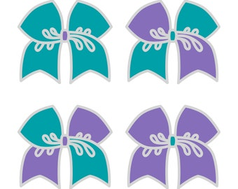 Large Sapphire/Hyacinth Cheer Bow ***PRE-ORDER***