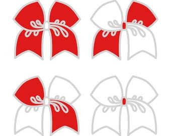 Large Red/White Cheer Bow ***PRE-ORDER***