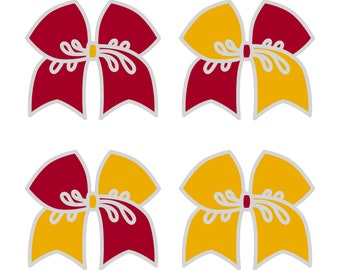 Large Cranberry/Gold Cheer Bow ***PRE-ORDER***