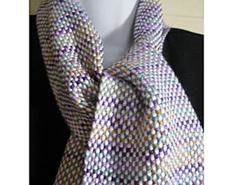 A Touch of Violet Handwoven Scarf
