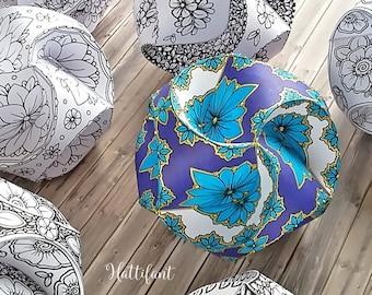 Triskele Paper Globes - Flower Edition - Seasonal Ornaments - 3D Paper Craft - 3D Coloring Pages