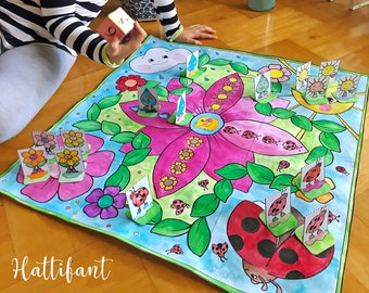 GIANT Spring Board Game to Color & Play | DIY with templates and instructions