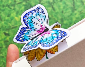 Inspirational 3D Spring Flower & Butterfly Bookmarks to color and craft | Paper Craft