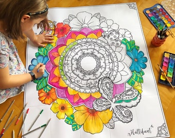 GIANT Poster | Spring Mandala to DIY and Color