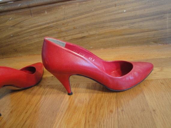 HALSTON  HEELS   Sexy Red Hott !! Vintage - image 5