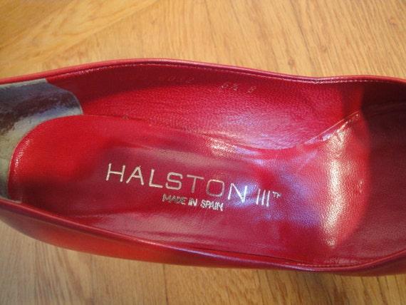 HALSTON  HEELS   Sexy Red Hott !! Vintage - image 2