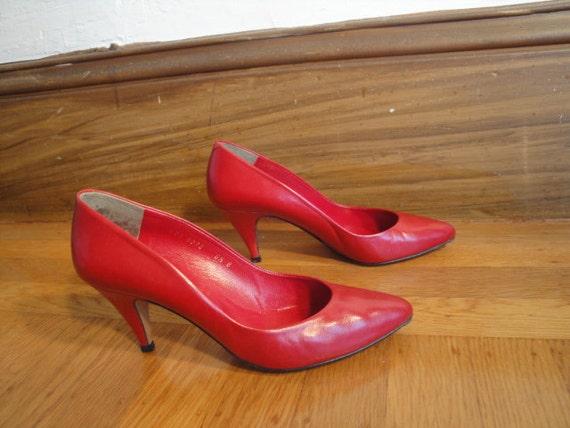 HALSTON  HEELS   Sexy Red Hott !! Vintage - image 1
