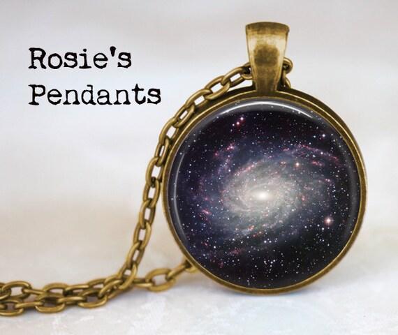 Milky Way Galaxy - Astronomy Jewelry - Astronomer Gift - Milky Way Necklace - Celestial Jewelry - Star Jewelry - Galaxy Pendant