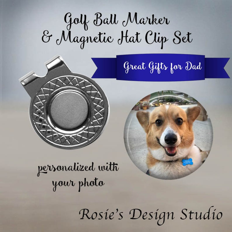 09b3f234f94 Dog Golf Ball Marker Dog Dad Gift Pet Golf Gift Magnetic