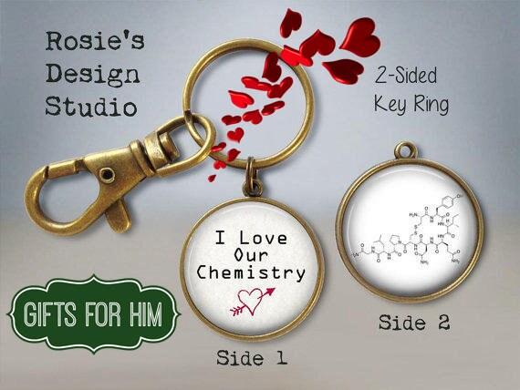 Oxytocin Necklace Oxytocin I love our Chemistry Keychain Oxytocin Jewelry Love Hormone Valentines Day Gift