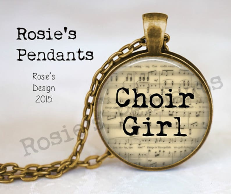 CHOIR GIRL Music Jewelry  Singing Jewelry  Gift for Singer  image 0