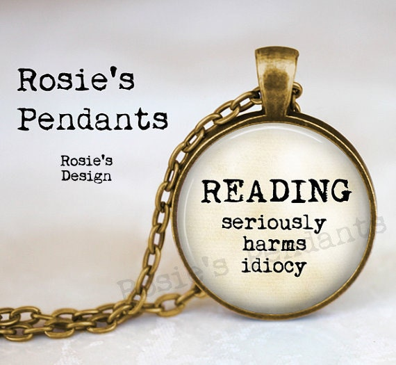 Reading Earrings: READING Seriously Harms Idiocy Literary Jewelry Reading
