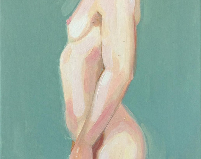 Fine Art PRINT** Acrylic painting of woman's figure, 8x10