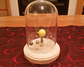 Small Solar System - Mechanical Orrery (with Glass Dome)