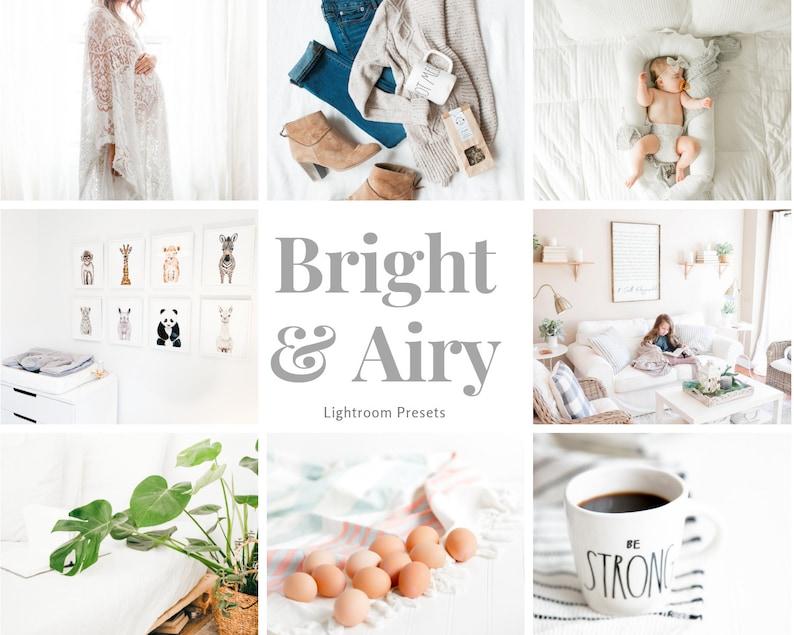 BRIGHT AND AIRY - Lightroom Preset for Photographers  Instant Download  Preset  Plus Mobile Lightroom Presets  Bonus Item Included!