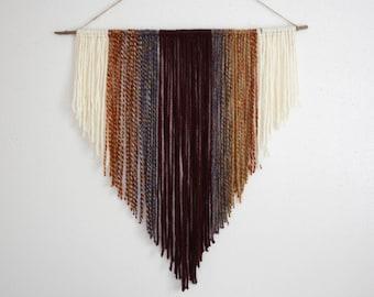 custom yarn wall hanging / boho wall tapestry / bohemian wall decor / custom colors and sizes available