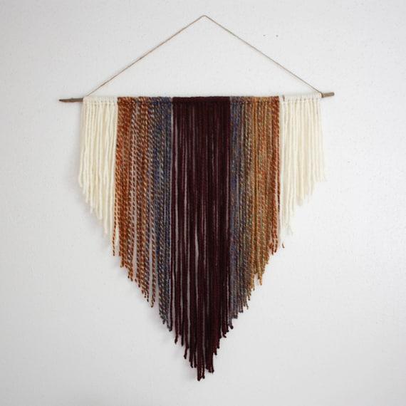 custom yarn wall hanging / boho wall tapestry / bohemian wall | Etsy