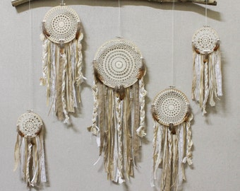 dream catcher installation *dream catchers avalible individually* / dreamcatcher wall hanging / doily lace custom color / *minimal assembly