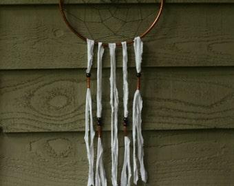 copper dream catcher with pure white details / dreamcatcher / dream catchers / wall hanging / wall decor