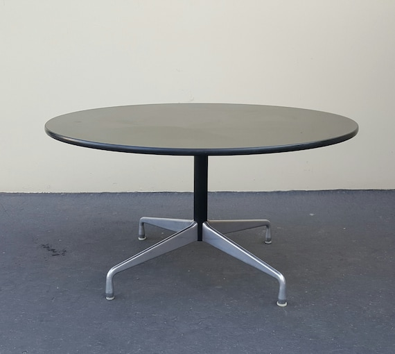 1960s Charles Eames Aluminum Group, Herman Miller Eames Coffee Table Round