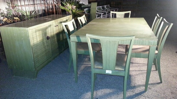 Paul Frankl Dining Set Paul Frankl Dining Table With 1 Leaves Etsy