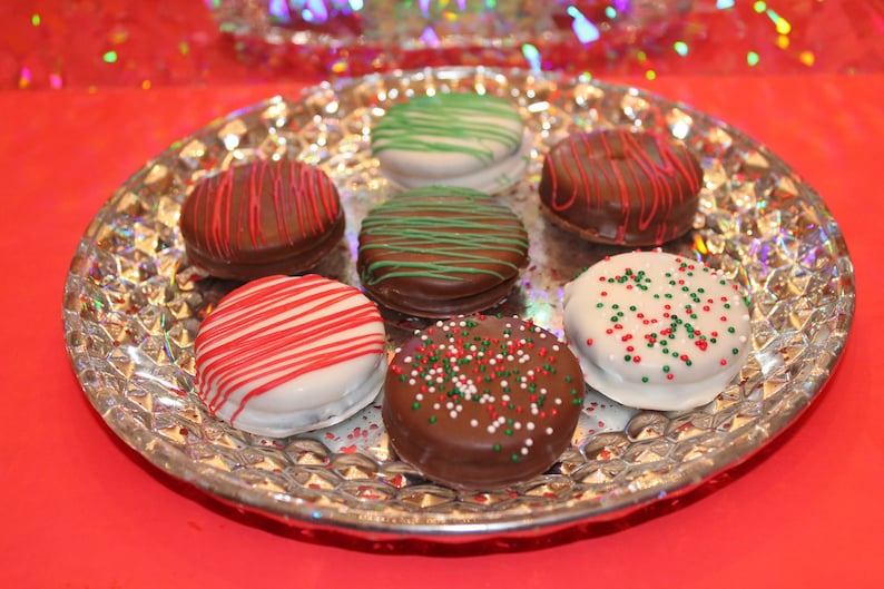 Chocolate Covered Christmas Peanut Butter And Ritz Cracker Etsy