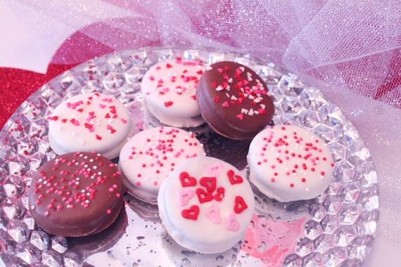 Valentines Chocolate Covered Oreo Cookies 1 Dozen Oreos Etsy