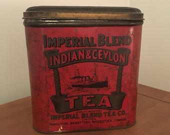 Vintage Large Canadian Imperial Blend Tea Tin