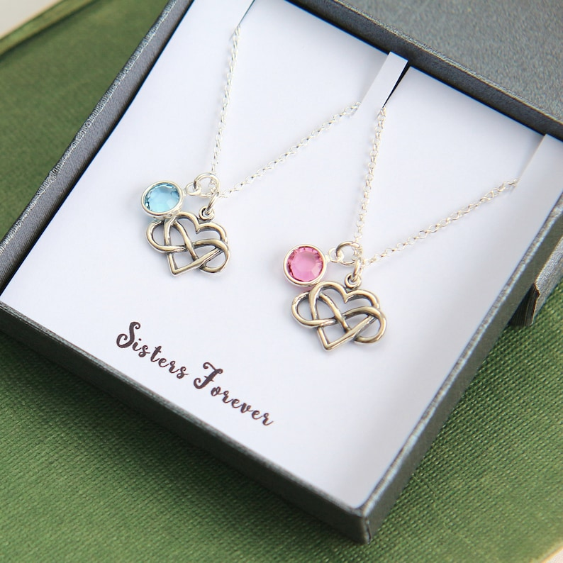 Sister Jewelry Gift for Sister Sister Birthday Gift Sister Gifts Sister Necklace Sisters Necklace Birthstone Jewelry Necklace for 2