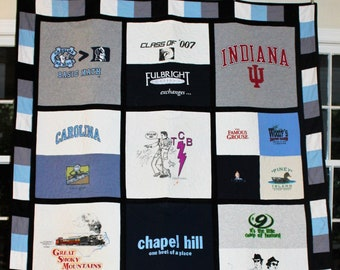 Custom T-shirt Quilt // Squares