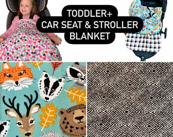 Toddler Car Seat and Stroller Blanket - Toddler - Children - Car Seat Blanket - Stroller Blanket - Car Blanket
