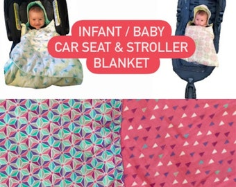 Baby Car Seat and Stroller Blanket - Baby - Infant - Car Seat Blanket - Stroller Blanket - Car Blanket