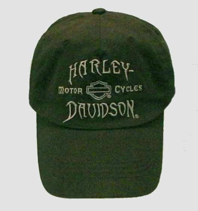 cc2d4035b4d Rare Harley Davidson Biker Hat Deep Forest Green Grograin