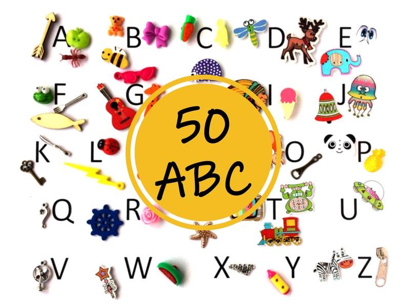 ABC 50 Alphabet objects 50 items miniaturas montessori image 0