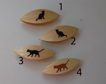En bois peint à la main tatting shuttle en assortiment