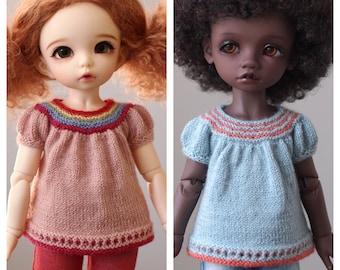 Kensington Market Top for Littlefee / YOSD Dolls (Knitting Pattern)
