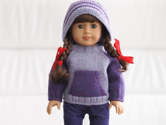 Kangaroo Campfire Hoodie Knitting Pattern For 18 Inch Dolls Etsy