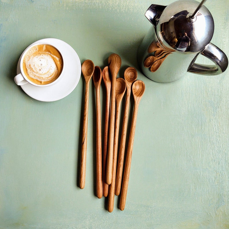 Barspoon French Press Coffee Stirrer Tall Smoothie Spoon image 0
