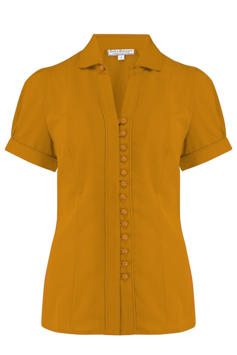 1940s Blouses, Tops, Shirts, Knitwear     Read the full title    The Margot