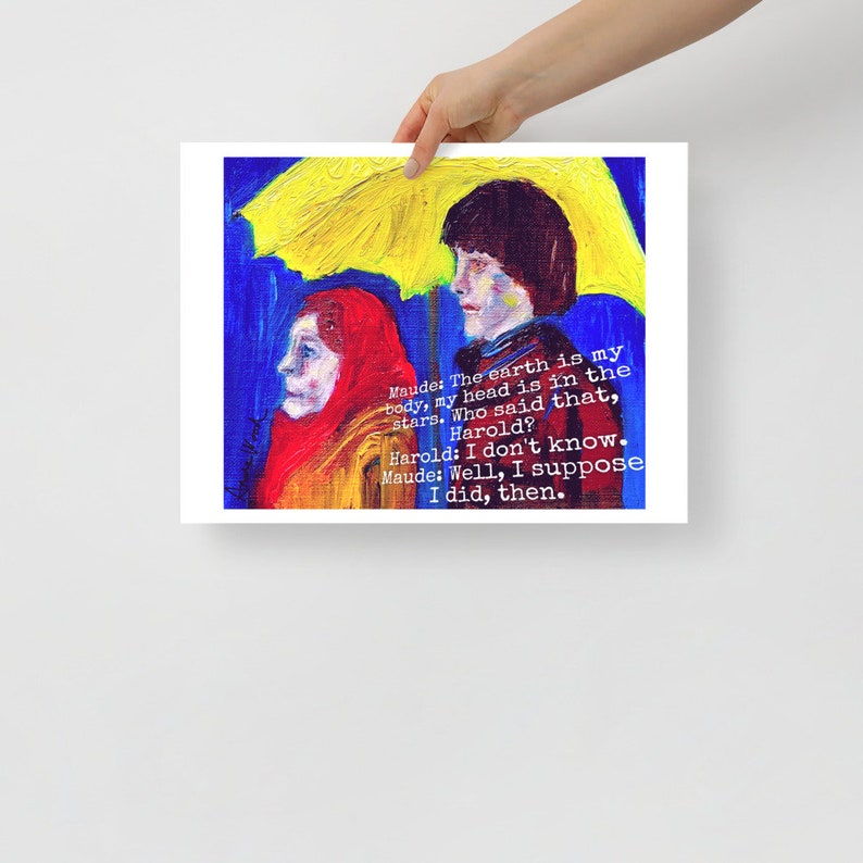 Harold and Maude Poster from original oil painting. image 1
