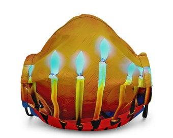 Hanukkah Premium face mask