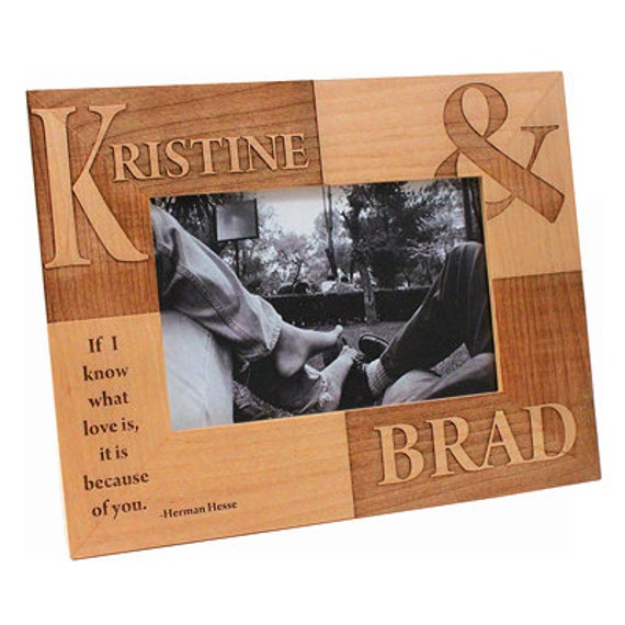 personalized wooden frame if i know what love is etsy