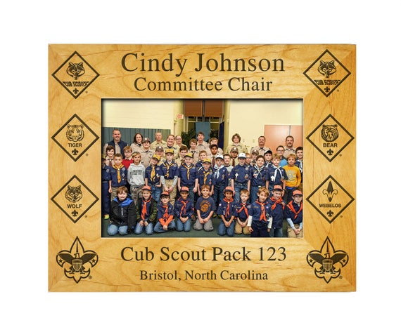 Pack Member Frame with Cub Scout Rank Insignia from FireflyCustom on ...