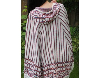 Vintage 1960's Bohemian Hooded Cape