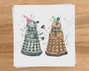 "Doctor Who Daleks ""Celebrate"" Greeting Card"