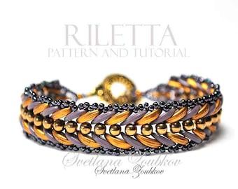 Beaded Bracelet Pattern Crescent Beads Riletta Tutorial