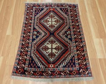 Vintage Vintage Rug 3' x 4' 1 Blue Afshar Oriental Rug