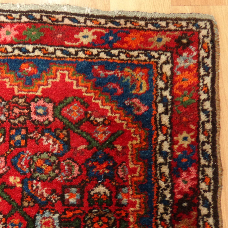 Antique Oriental Rugs Uk: Vintage Rug Red Hamedan Oriental Rug 2' 5 X 4' 1