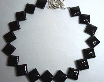 Extravagant agate necklace / necklace - L44 + 6
