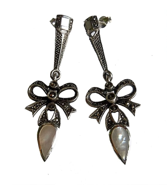 Great Art Nouveau loops pendant earrings